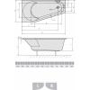 Акриловая ванна ALPEN Projekta 160 R