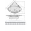 Акриловая ванна ALPEN Rosana 150