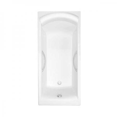 Чугунная ванна Jacob Delafon Biove 170×75 с отверстиями для ручек.