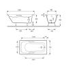 Чугунная ванна Jacob Delafon Prelude 150×70 с отверстиями под ручки.