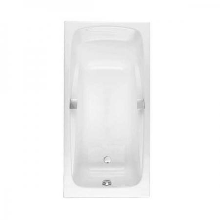 Чугунная ванна Jacob Delafon Repos 170×80 с отверстиями для ручек.