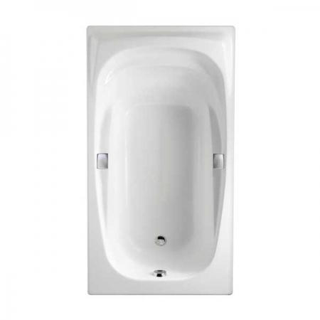 Чугунная ванна Jacob Delafon Super Repos 180×90 с отверстиями для ручек.