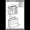 Комплект мебели Opadiris Клио 80