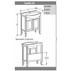 Комплект мебели Opadiris Мираж 65
