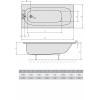 Акриловая ванна ALPEN Laura 160
