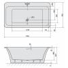 Акриловая ванна Alpen Saima 178x98