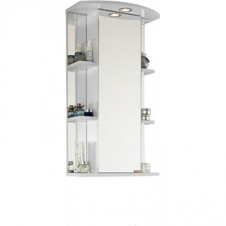 Шкаф-зеркало Vod-ok Эльба 45 белое ЛВ
