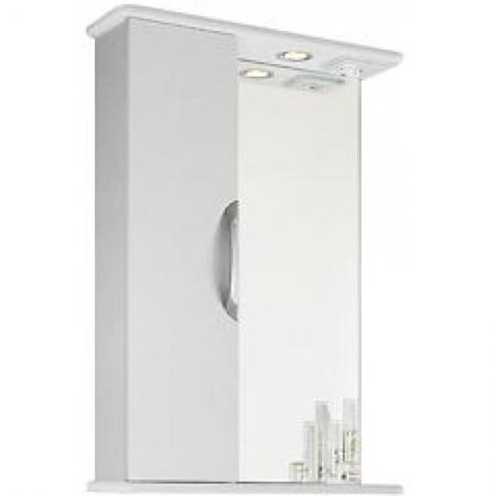 Шкаф-зеркало Vod-ok Лира 55 белое ЛВ