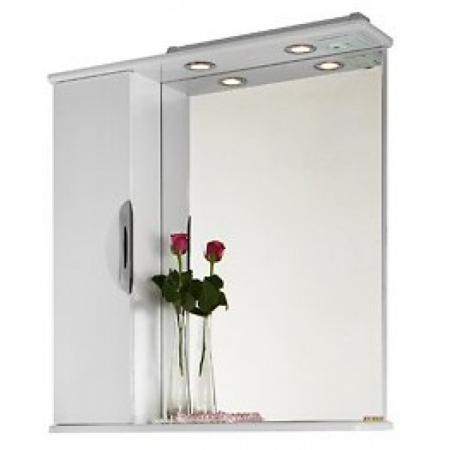 Шкаф-зеркало Vod-ok Лира 75 белое ЛВ