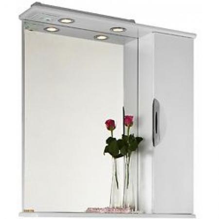 Шкаф-зеркало Vod-ok Лира 75 белое ПР