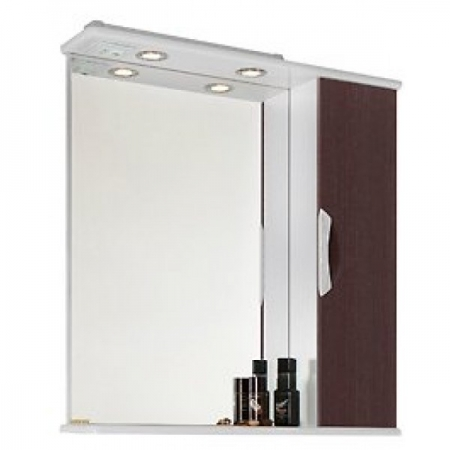 Шкаф-зеркало Vod-ok Лира 85 венге ПР