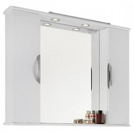 Шкаф-зеркало Vod-ok Лира 105 белое