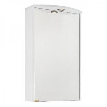Зеркало Vod-ok Мона 50 см Белое ЛВ