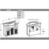 Комплект мебели Opadiris Тибет 70 (белый)