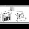Комплект мебели Opadiris Тибет 80 (нагал)