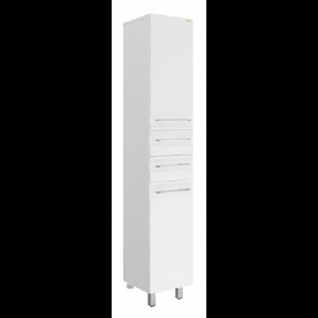 Пенал Vod-ok Мальта Белый 30 см с бельевой корзиной ПР