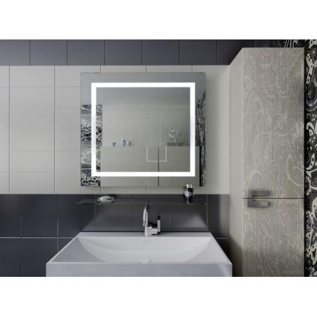 Зеркало для ванной комнаты с подсветкой Forum Edging (Merlyn), алюминиевая рамка 100*70 см