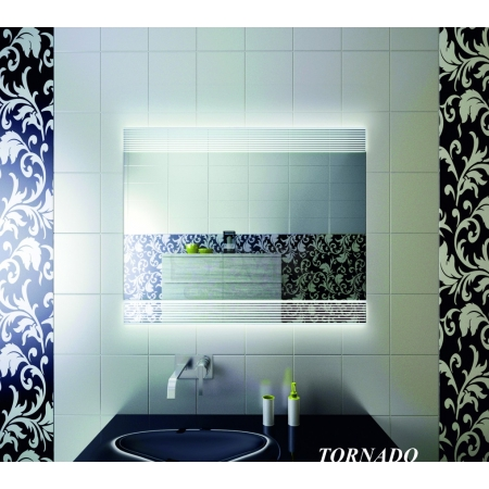 Зеркало для ванной комнаты с подсветкой Forum Tornado 80*120 см