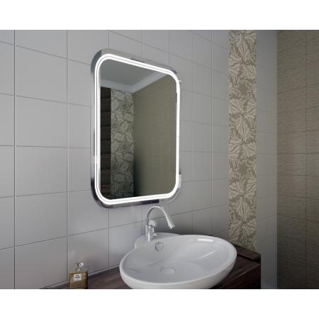 Зеркало для ванной комнаты с подсветкой Forum Monro 70*60 см