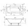 Ванна акриловая Polyagram Roma 170*70